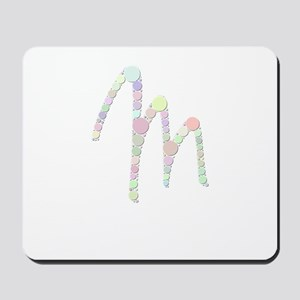 "Letter ""M"" (Candies) Mousepad"
