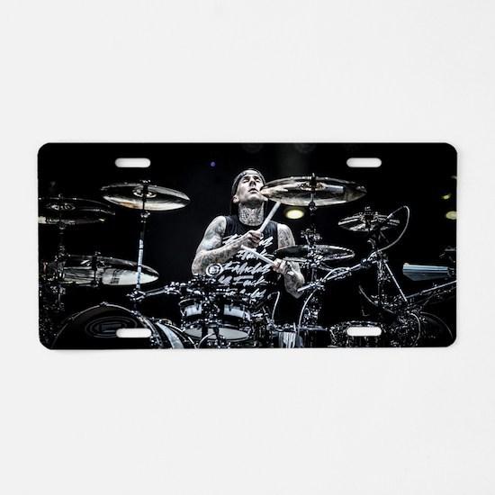 Funny Drum Aluminum License Plate