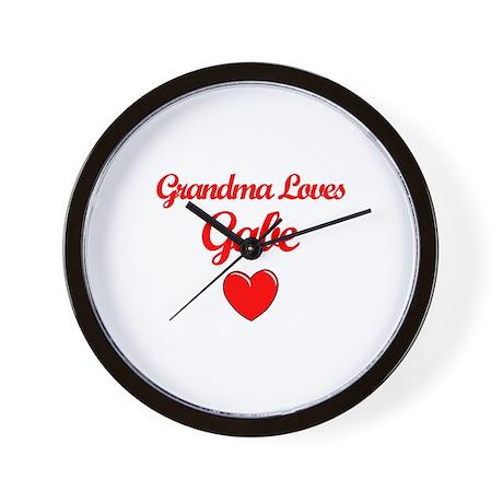 Grandma Loves Gabe Wall Clock