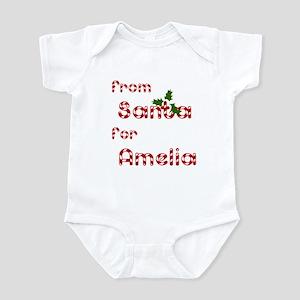 From Santa For Amelia Infant Bodysuit
