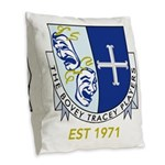 Bovey Tracey Players Burlap Throw Pillow