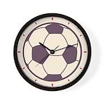 Retro Soccer Ball Wall Clock