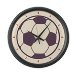Retro Soccer Ball Large Wall Clock