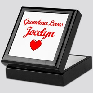 Grandma Loves Jocelyn Keepsake Box