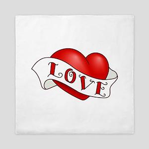 Valentine's Day Heart Queen Duvet