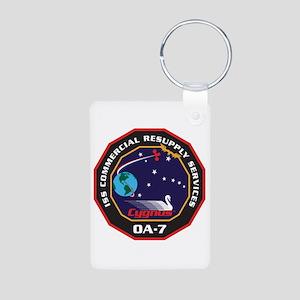 OA-7 Spacecraft Aluminum Photo Keychain