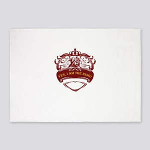 yes, i am the king 5'x7'Area Rug