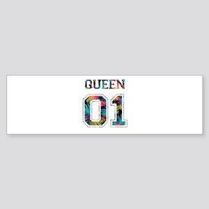 king and queen couple Bumper Sticker