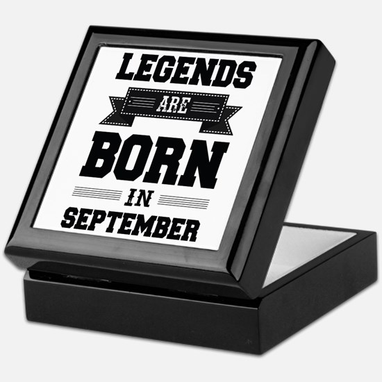 Legends Are Born In September Keepsake Box
