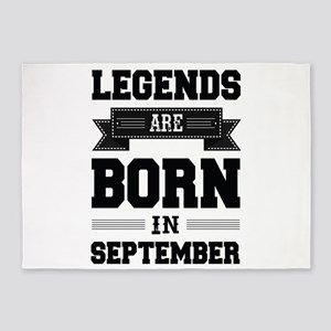 Legends Are Born In September 5'x7'Area Rug