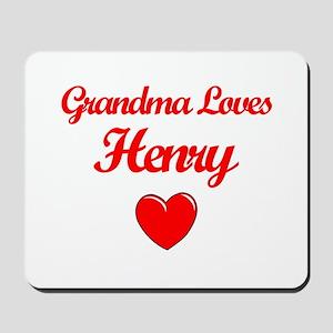 Grandma Loves Henry Mousepad