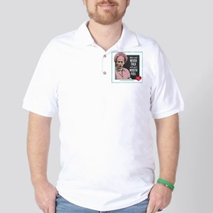 Talk with Mouth Full Golf Shirt
