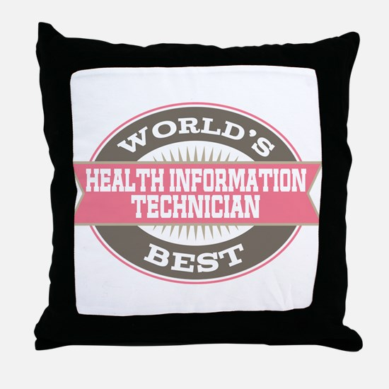 health information technician Throw Pillow