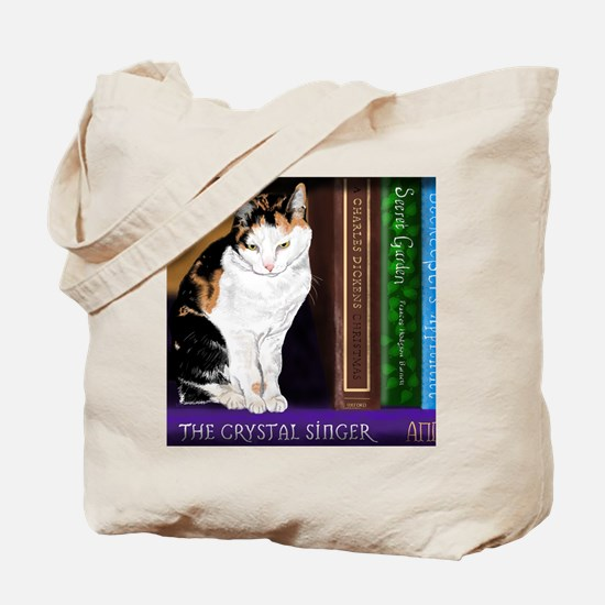 Funny Cats books Tote Bag