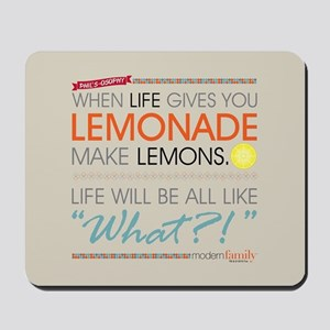 Modern Family Phil's-osophy Lemonade Mousepad