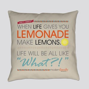 Modern Family Phil's-osophy Lemona Everyday Pillow