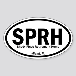 Euro Oval Stickers - Shady Pines Sticker