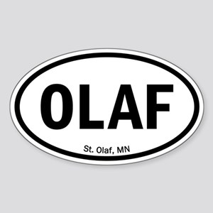 Euro Oval Sticker - OLAF Sticker