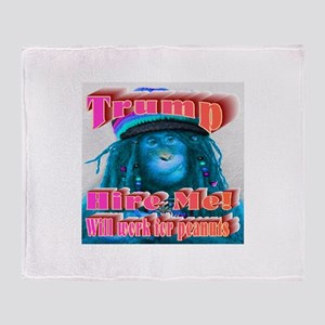 Blue Monkey Throw Blanket