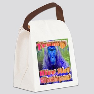 Blue Monkey Canvas Lunch Bag