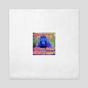 Blue Monkey Queen Duvet