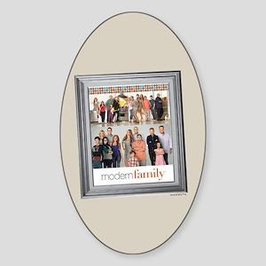 Modern Family Portrait Sticker (Oval)