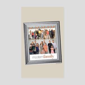 Modern Family Portrait Sticker (Rectangle)