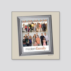 "Modern Family Portrait Square Sticker 3"" x 3"""