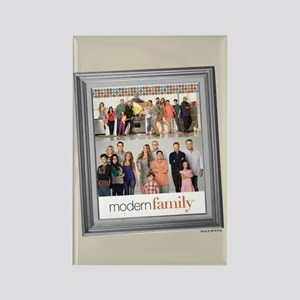 Modern Family Portrait Rectangle Magnet