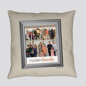 Modern Family Portrait Everyday Pillow
