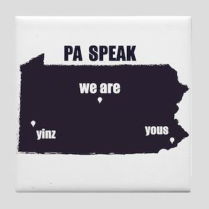 PA Speak Tile Coaster