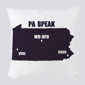 PA Speak Woven Throw Pillow