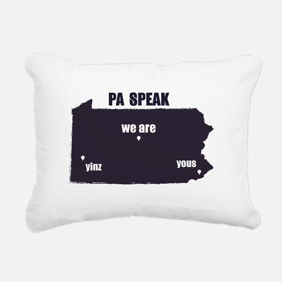 PA Speak Rectangular Canvas Pillow
