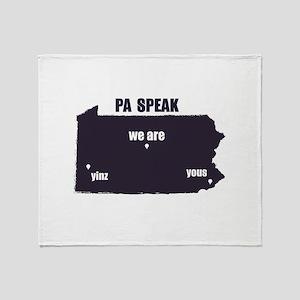 PA Speak Throw Blanket