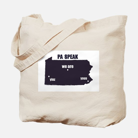 PA Speak Tote Bag