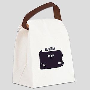 PA Speak Canvas Lunch Bag