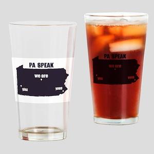 PA Speak Drinking Glass