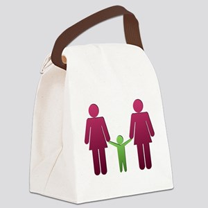Gay Couple Family - Women Canvas Lunch Bag