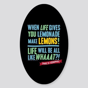Modern Family Make Lemonades Sticker (Oval)