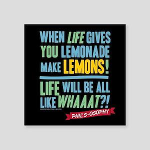 """Modern Family Make Lemonade Square Sticker 3"""" x 3"""""""