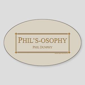 Modern Phil's-Osophy Gold Sticker (Oval)