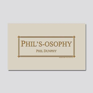 Modern Phil's-Osophy Gold Car Magnet 20 x 12