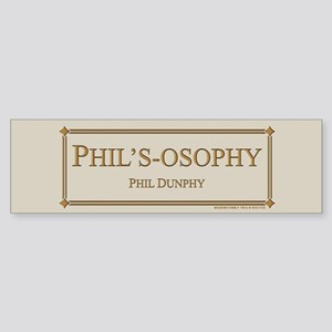 Modern Phil's-Osophy Gold Sticker (Bumper)