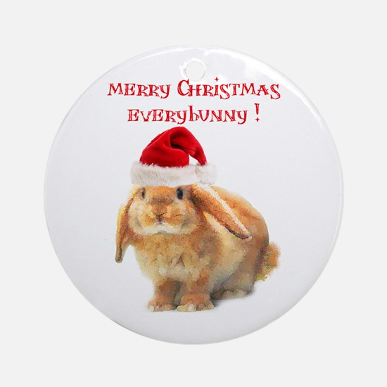 merry-xmas.png Round Ornament