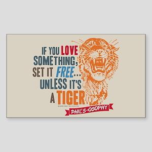 Modern Family Tiger Sticker (Rectangle)