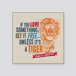 "Modern Family Tiger Square Sticker 3"" x 3"""