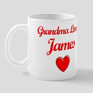 Grandma Loves James Mug
