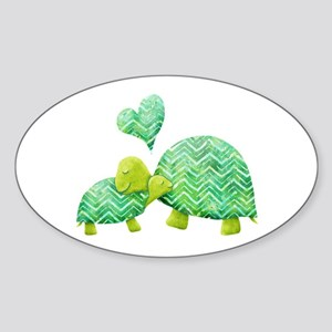 Turtle Hugs Sticker