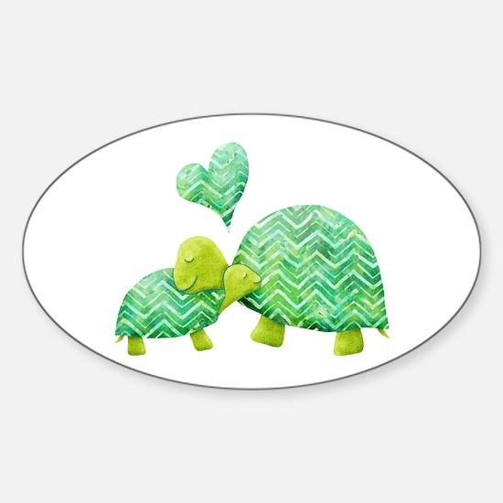 Turtle Hugs Decal