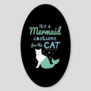 Modern Family Mermaid Cat Sticker (Oval)
